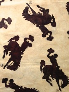 Bali Batik Wyoming Bucking Horse Bison M2790 555