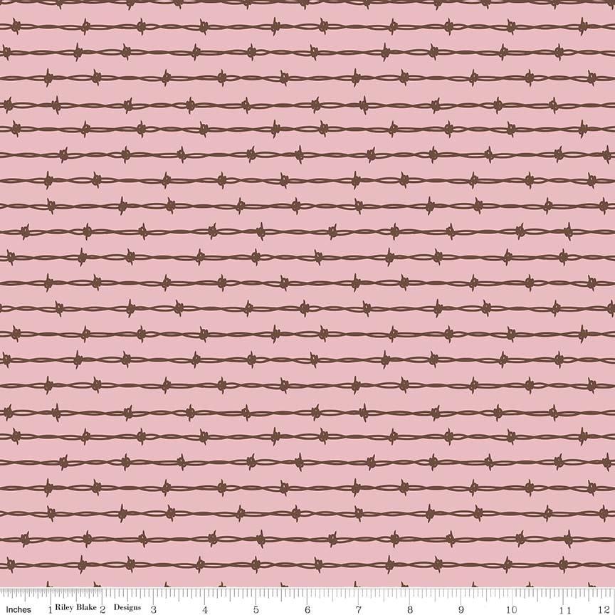 Cowboy Barbed Wire Pink C5635- Pink