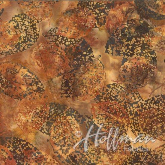 Bali Batiks - Q2133-168 - Leaves Nutmeg