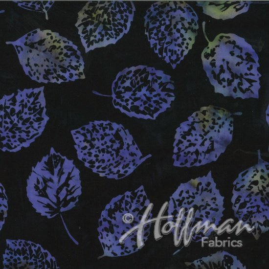 Bali Batiks - Q2133-197 - Leaves Black Grape
