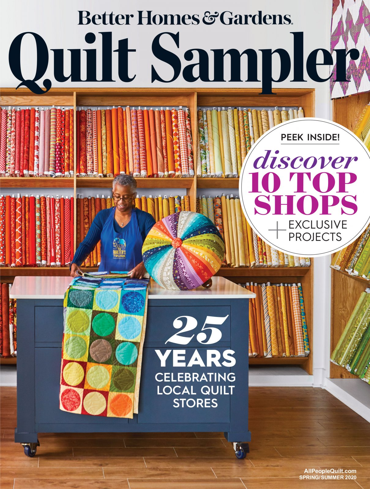 Quilt Sampler Spring/Summer 2020<br>Featured Shop - Lickety Stitch Quilts