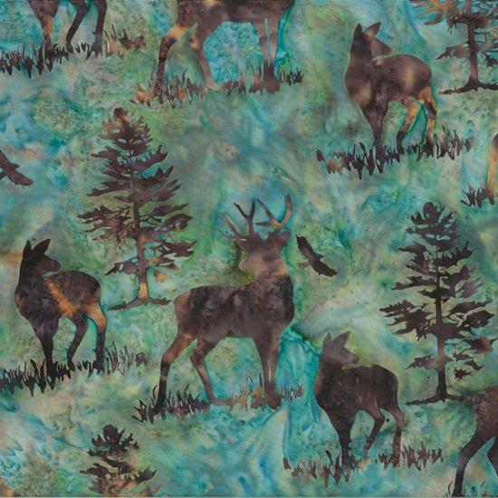 Bali Batik - Deer<br>R2256-58 - Earth