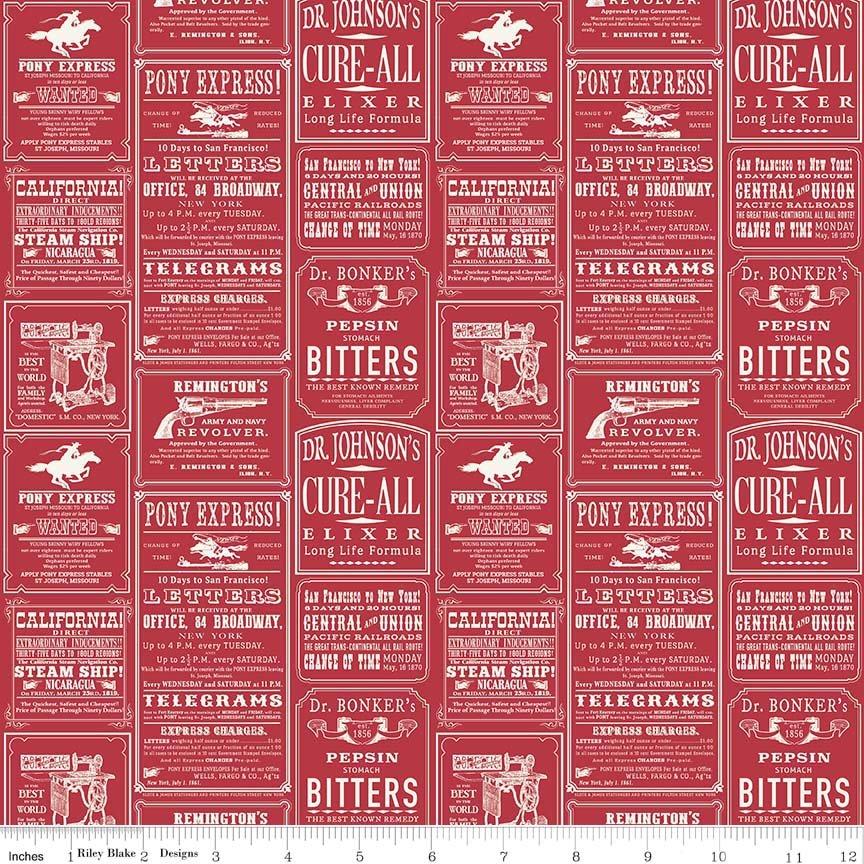 Cowboy Ads Red C5632-Red