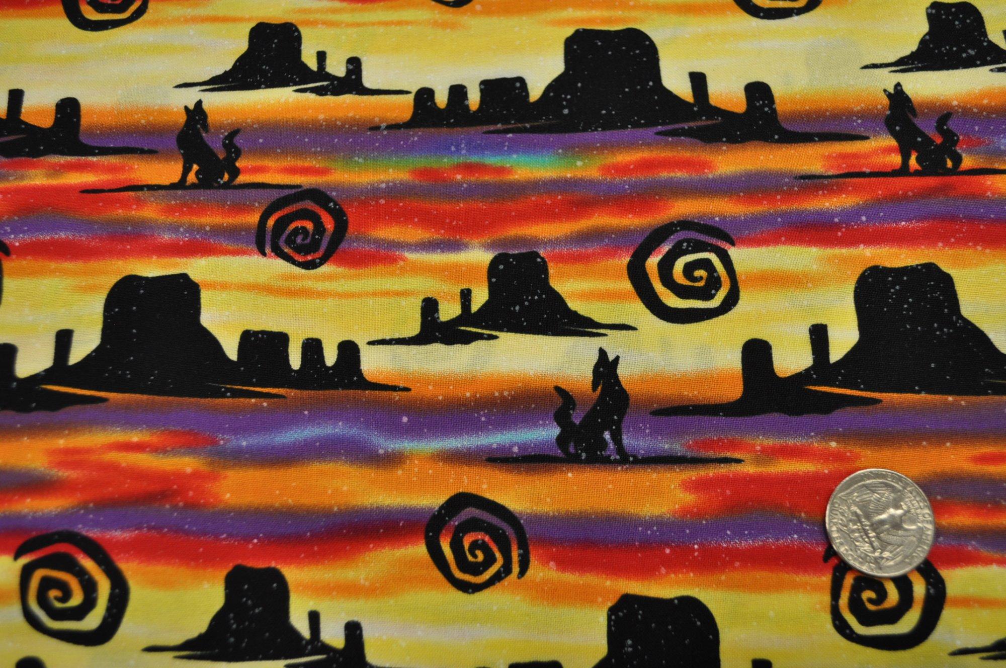 Kokopelli Desert Coyotes AWC-71201-206 Sunset
