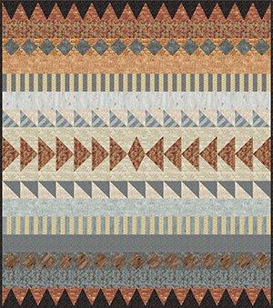 Retro-Geometric Quilt in Masculine Prints