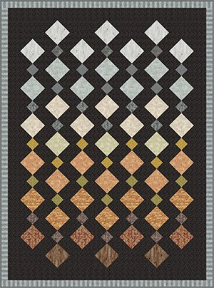Geometric Quilt Pattern in Masculine colors