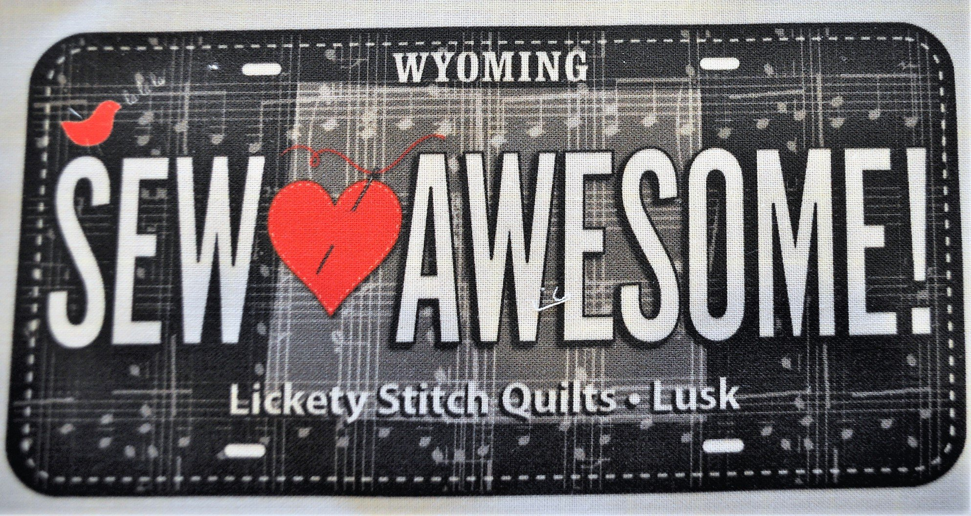 License Plate - Sew Awesome 2018