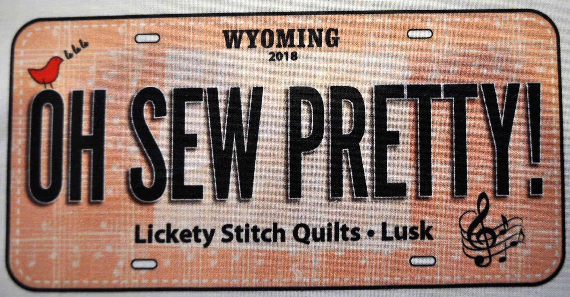 License Plate - Oh Sew Pretty 2018