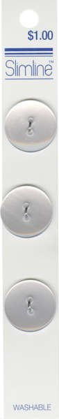 2 Hole Button White 3/4in 3ct