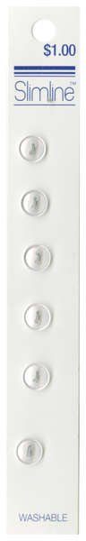 2 Hole Button White 1/4in 6ct