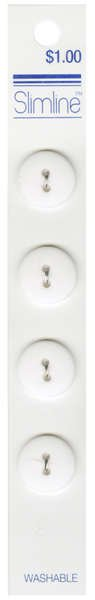 2 Hole Button White 5/8in 4ct