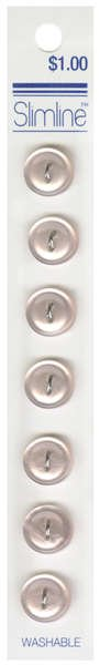 2 Hole Button Light Pink 7/16in 7ct