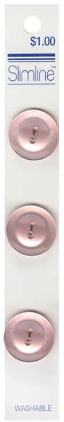 2 Hole Button Pink 3/4in 3ct