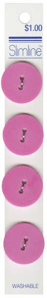 2 Hole Button Pink 7/8in 4ct