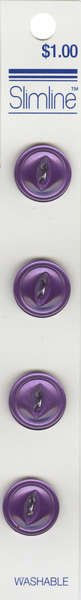2 Hole Fisheye Button Lavender 5/8in 4ct