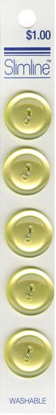 2 Hole Button Yellow 3/4in 5ct