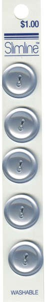2 Hole Button Light Blue 3/4in 5ct