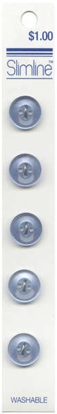 4 Hole Button Blue 1/2in 5ct