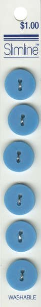 2 Hole Button Turquoise 5/8in 6ct