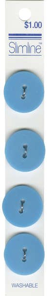 2 Hole Button Turquoise 7/8in 4ct