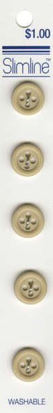 4 Hole Button Beige 1/2in 5ct