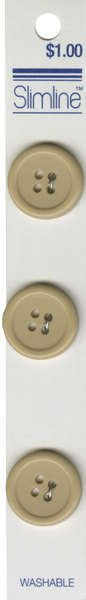 4 Hole Button Beige 3/4in 3ct