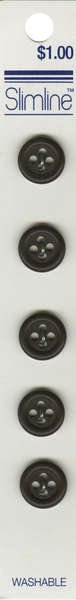 4 Hole Button Brown 1/2in 5ct