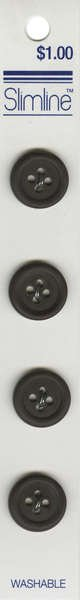 4 Hole Button Brown 5/8in 4ct