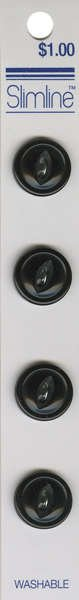 2 Hole Button Black 5/8in 4ct