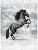 Call of the Wild T4861-669 Horse - Noir