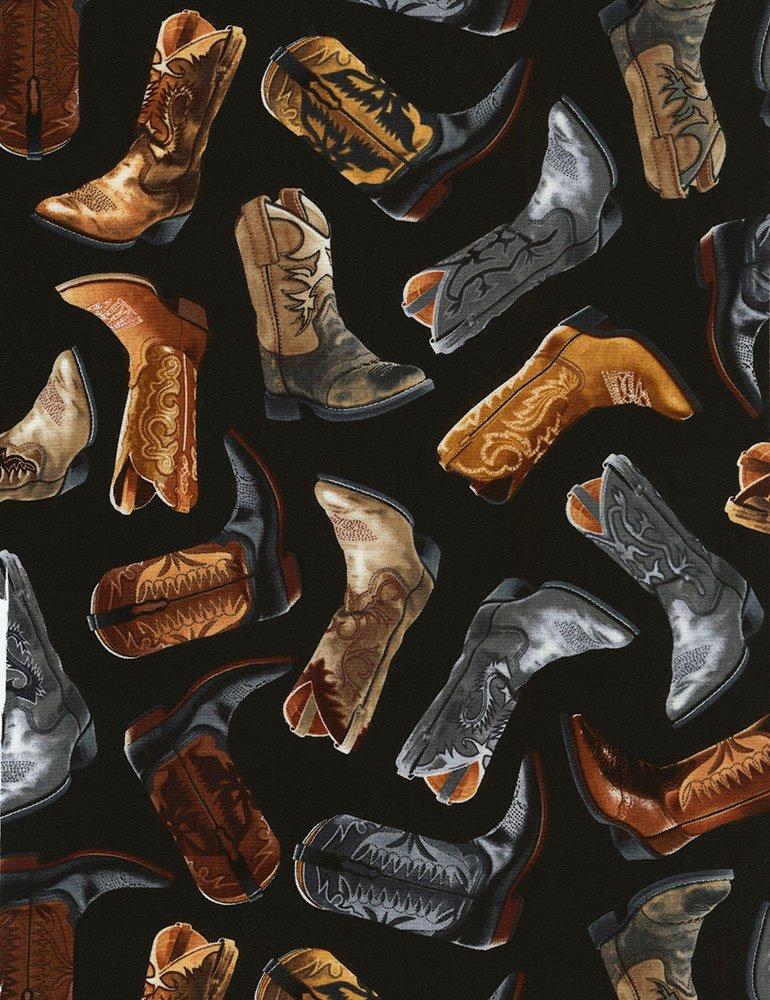 Wild Wild West - C6307-BLK - Cowboy Boots