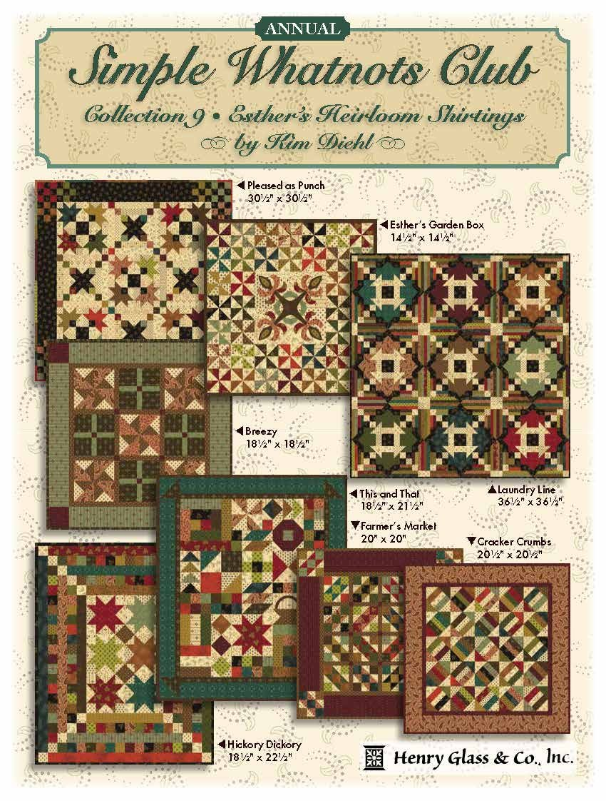 Simple Whatnots Club Quilt Kit-8 quilts