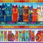 Feline Frolic - Pictorial Stripe<br>Y2797-55M - Multi Metallic