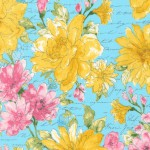 Garden Splendor, Large Blue Floral
