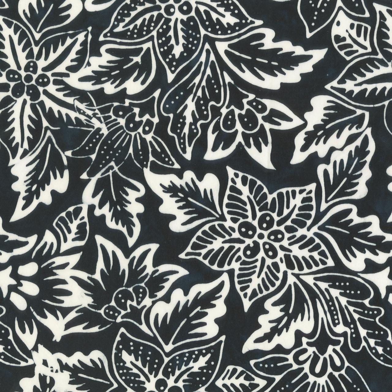 Batik b&w- Botanical