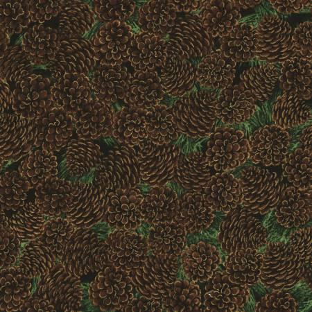 Christmas Morning, w/Metallic, Brown Pinecones