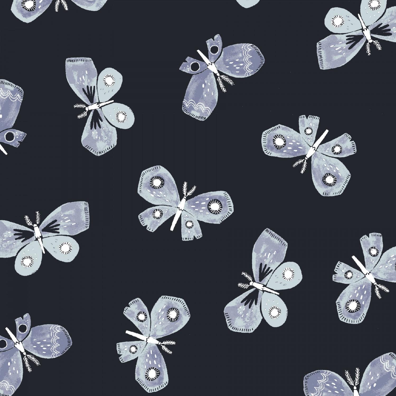 Honey Bee, Navy Butterflies