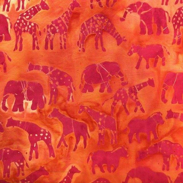 Serengeti Sunset, Pinky Gold Batik