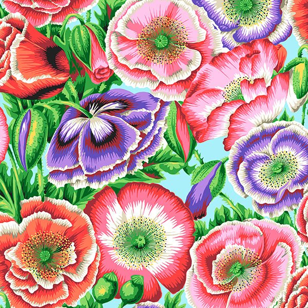 Kaffe Fassett, Poppy Garden Pink