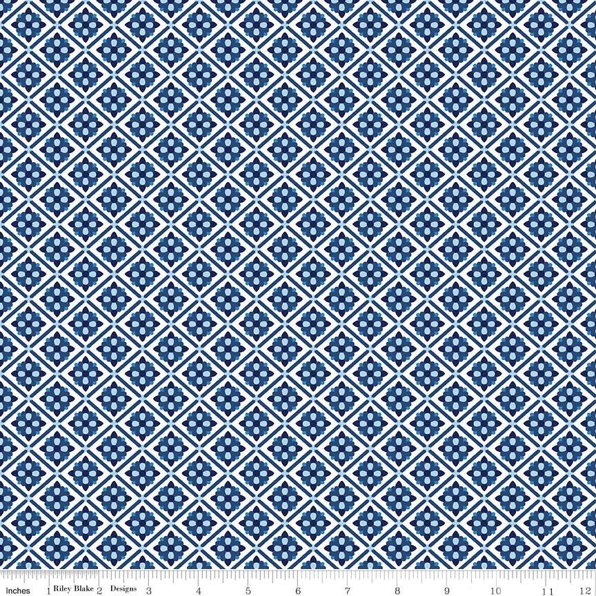 Blue Carolina, Tile-White