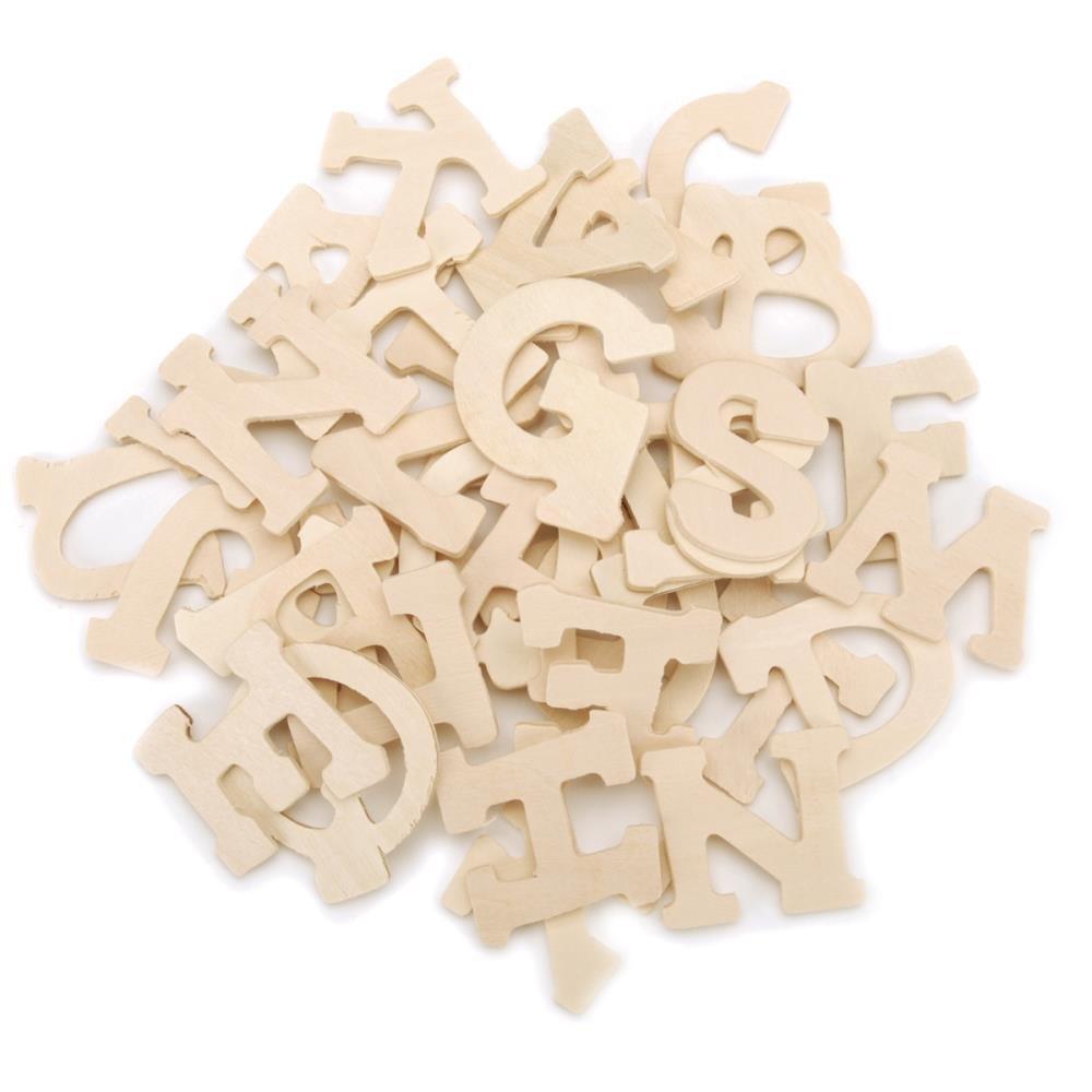 Craftwood Letters 1.75 36/Pkg