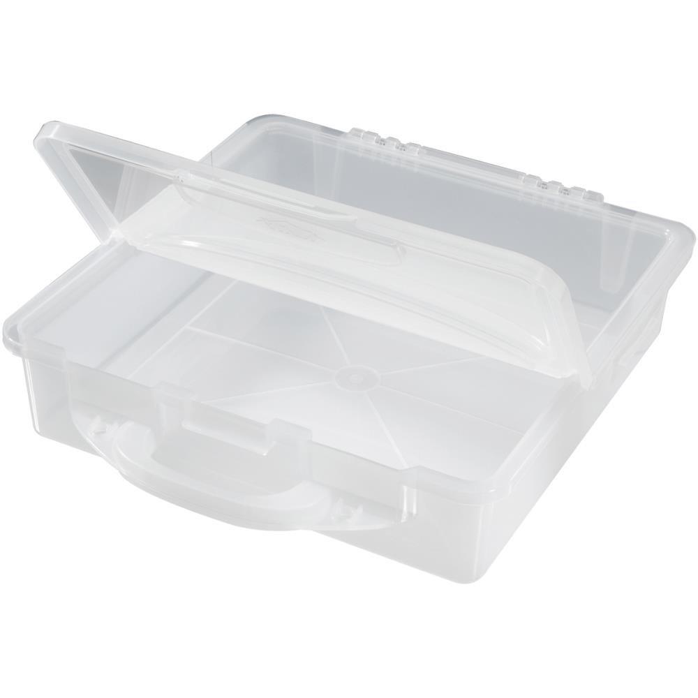Stow & Go Storage Bin-14X14X3.25 Translucent