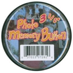 Memory Button 3.5 Clear Plastic