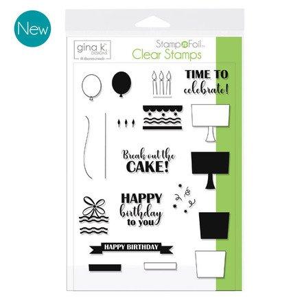 Time to Celebrate - Gina K Designs Stamp Set