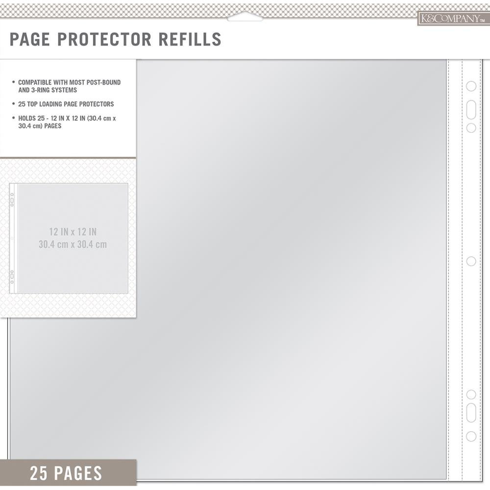K&Co 12 Page Protectors 25pk