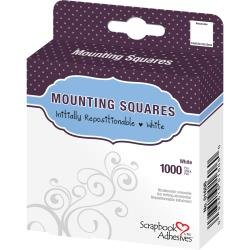 Mounting Squares-1000pk Initially Repositionable