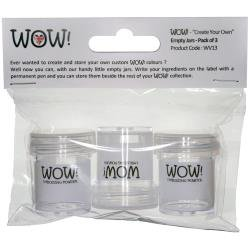 Wow! Create Your Own Empty Jars 3/Pkg