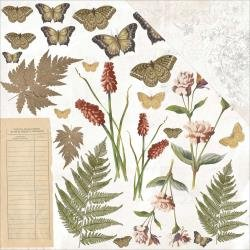 Vintage Artistry Double-Sided Cardstock 12X12 Flora And Fauna Cut Outs