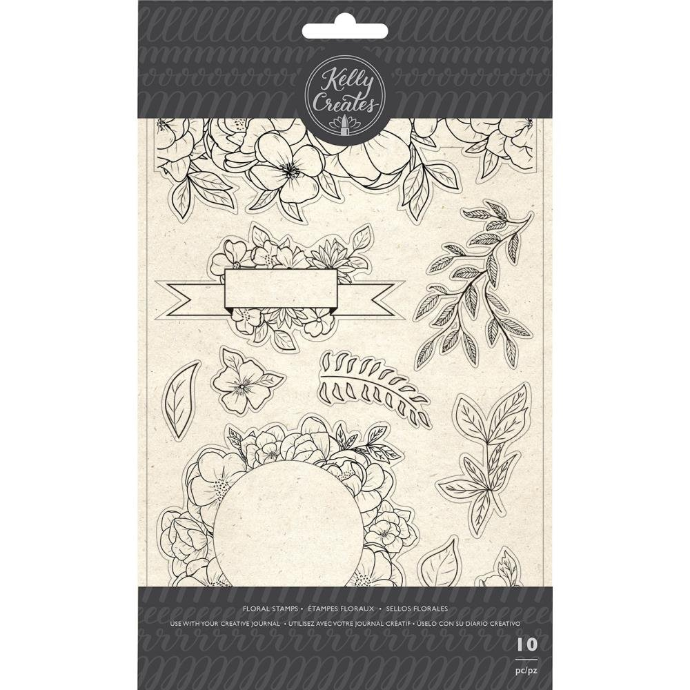 Florals- Kelly Creates Acrylic Traceable Stamps