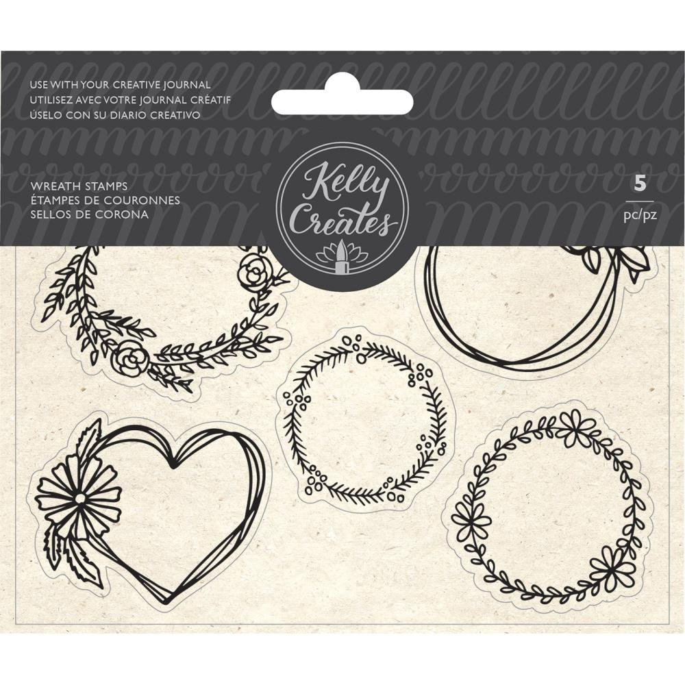 Wreaths- Kelly Creates Acrylic Traceable Stamps